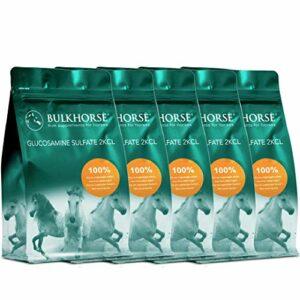 BULKHORSE Sulfate de glucosamine 2KCl | Qualité Premium 100% sulfate de glucosamine Pur | Dosage Efficace et entièrement Exempt de sucres ajoutés | 5000 grammes