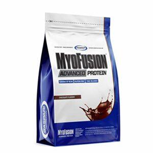 Gaspari Nutrition Myofusion Advanced EU Paquet de 1 x 500g – Concentré et Isolat et Hydrolysat de Protéines de Lactosérum – Caséine Micellaire – Supplément de Poudre (Chocolate)