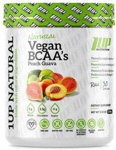 1Up Nutrition Natural Vegan BCAA + Glutamine, Peach Guava – 270g