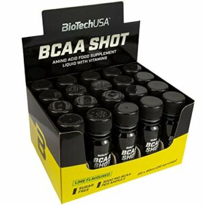 Biotech USA BCAA Shot Lot de 20 ampoules + 3 sachets de lactosérum 20 x 60 ml