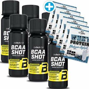 Biotech USA BCAA Shot Lot de 6 ampoules + 6 sachets de lactosérum de 25 g
