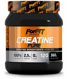 ForFIT Sports Créatine monohydrate pure en poudre (360 g, 120 doses)