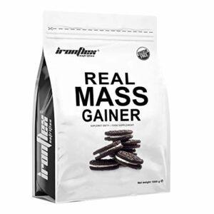 IronFlex Real Mass Gainer Paquet de 1 x 1000g – Mass Gainer – Glucides – Concentré et Isolat de Protéine de Lactosérum – Caséine Micellaire – Croissance Musculaire (Chocolate Cookie & Cream)