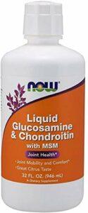 Now Glucosamine Et Chondroïtine avec Liquide Msm, Citrus