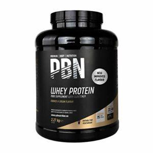 PBN – Premium Body Nutrition Protéines de lactosérum (whey) en poudre, 2,27kg, Goût cookies et crème, Nouvelle saveur améliorée