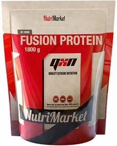 QXN Fusion Protein Saveur Cookie Extra Cream – Protéine pour augmenter la masse musculaire avec glutamine et BCAA – Meilleure récupération et protection musculaire pour faciliter l'anabolisme – 1,8 kg