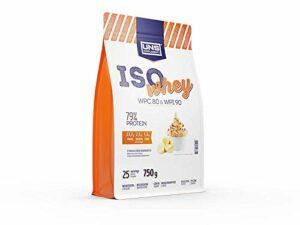 UNS Supplements ISO Whey WPC80 et WPI90 – Complément alimentaire protéiné protéines de lactosérum – Banana Ice Cream – 750 g