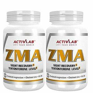 ACTIVLAB ZMA | Supplément de rappel de testostérone | Croissance de la masse musculaire | Meilleur sommeil et récupération | Zinc | Magnésium | Vitamine B6 | Minéral anabolisant (180 gélules)