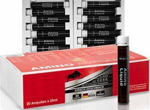 BPV – AMPOULES AMINO – 20 pièces de 25 ml – Acides aminés, BCAA, EAA – Idéal pour la phase de renforcement musculaire, la phase régime et le bodybuilding.