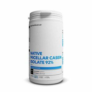 Isolat de Caséine Micellaire | Pureté record 92% • Prise de muscle • Coupe-faim • Assimilation très lente • Sans OGM • Musculation & Fitness| Nutrimuscle |Vanille – 500 g
