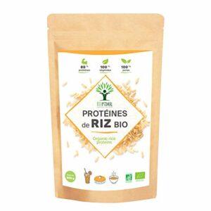Protéine de Riz – Bioptimal – BCAA – BCAA Poudre – Protéine de Riz Bio – Poudre de Riz – Energie – Made in France – Certifié Ecocert – 80% de Protéine – 12% de BCAA 500 g