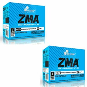 ZMA | Booster de testostérone pour les hommes | Complément alimentaire minéral anabolisant | Zinc Magnésium Vitamine B6 (240 gélules)