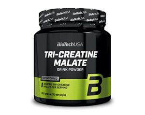 Biotech USA Tri Creatine Malate Lot de 2 boîtes de 300 g