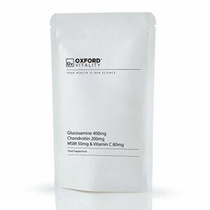 Oxford Vitality – Comprimés Soutien Articulaire Extra : Glucosamine 400mg Chondroïtine 200mg MSM 50mg et Vitamine C 80mg