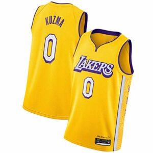 WXZB Maillot de basket-ball pour homme Láké # 0 ylé zmá, nouvelle saison respirant Swing Man Jersey T-shirt & tops Jaune C-XXL