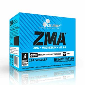 ZMA | Booster de testostérone pour les hommes | Complément alimentaire minéral anabolisant | Zinc Magnésium Vitamine B6 (120 gélules)