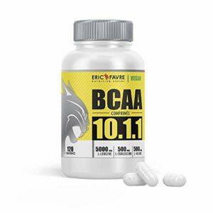BCAA COMPRIMÉS 10.1.1 – Acides aminés Musculation Vegan Hautement dosés – Votre Allié Pour Des Entrainements Efficaces – Performance Accentuée – Programme 30J – Laboratoire Français Eric Favre