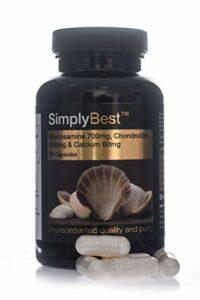 Glucosamine 700mg, Chondroïtine 600mg & Calcium 60mg | 60 Gélules| SimplySupplements