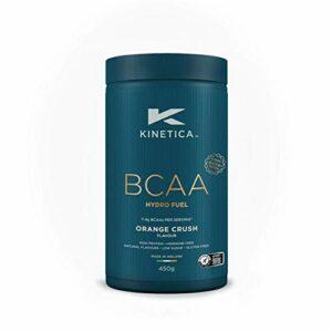 Kinetica BCAA Hydrofuel en poudre, orange, 450 g, mélange 4:1:1 (leucine, isoleucine, valine) 7,4 g de BCAA…