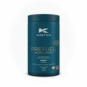 Kinetica PreFuel, supplément pré-entrainement, fruits des bois, 300 g, 30 portions – 5,9 g d'acides aminés et 2,3 g de BCAA par portion
