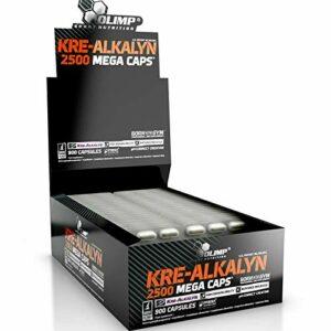 KRE-ALKALYN 2500 | Monohydrate alcalin de créatine tamponnée PREMIUM – Pilules anabolisantes pour la croissance de la masse musculaire | Blisters – Pas de boîte (180 gélules)