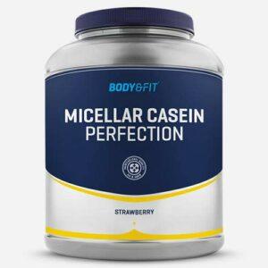 Body & Fit – Micellar Casein Perfection, Poudre de Caséine Micellaire, 2000 grammes (80 shakes), Fraise