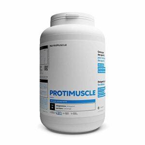 Mix Protéine (Whey & Caséine) en Poudre (1,2 kg) – ProtiMuscle | Protéine Native Laitière • Prise de Muscle • Musculation & Fitness • Brûle Graisse | Nutrimuscle | Arôme Naturel Vanille