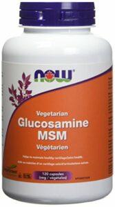 NOW Vegetarian Glucosamine & MSM (500 / 333) 120 Veg Capsules