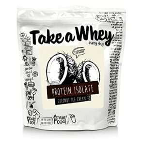TAKE-A-WHEY Everyday Protéines Isolate Musculation Supplément Alimentaire Glace de Noix de Coco