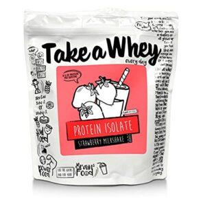 TAKE-A-WHEY Poudre d'Isolat Protéique Milkshake aux Fraises