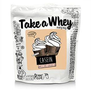 TAKE-A-WHEY Quotidien Micellaire Caséine Protéine Shake Cupcakes au Chocolat Blanc