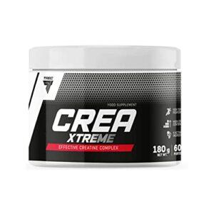 TREC CREATINE XTREME 180g | Pile de créatine anabolique | Monohydrate de créatine | Malate de tri-créatine | Citrate de créatine | Chlorhydrate de créatine