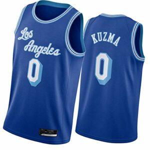 WXZB Maillot de basket-ball pour homme Láké # 0 ylé zmá, nouvelle saison respirant Swing Man Jersey T-shirt & tops Bleu XL