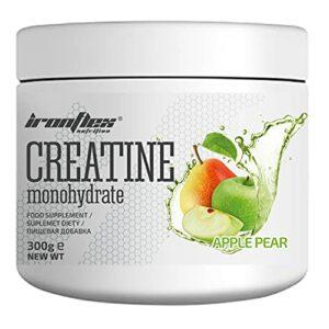 IronFlex Creatine Monohydrate Paquet de 1 x 300g – Créatine Monohydrate – Taurine – Vitamine B6 – Créatine – Force – Endurance – Muscle – PreWorkout (Apple Pear)
