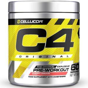 Poudre pré-entraînement C4 Original – limonade cerise/citron vert   Boisson énergisante pré-entraînement   150 mg de caféine + bêta-alanine + monohydrate de créatine   60 portions