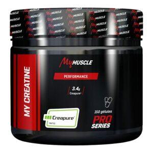 MyMUSCLE – My Creatine – Créatine Monohydrate en Gélules Label Creapure® – 150 Gélules