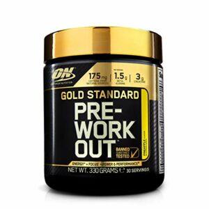 Optimum Nutrition Gold Standard Pre Workout, Booster de Pré-Entraînement avec Creatine Monohydrate, Bêta-Alanine, Cafeine et Vitamine B Complex, Ananas, 30 Portions, 330g