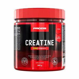 Prozis Creatine Creapure 300 g Nature Complément Permettant de Stimuler la Force, la Croissance et le Développement Musculaires
